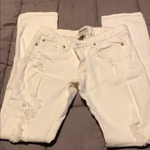 Off white torn jeans